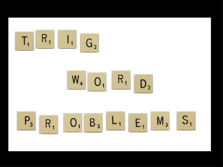 Trig Word Problems
