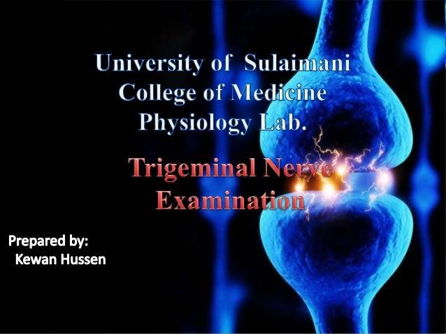 Trigeminal nerve examination