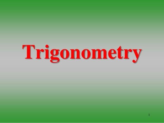 1 Trigonometry