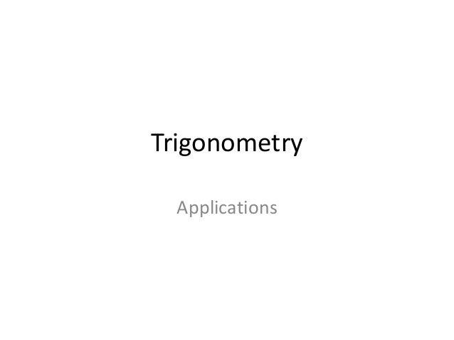 Trigonometry applications topic