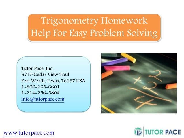 Homework help trigonometry