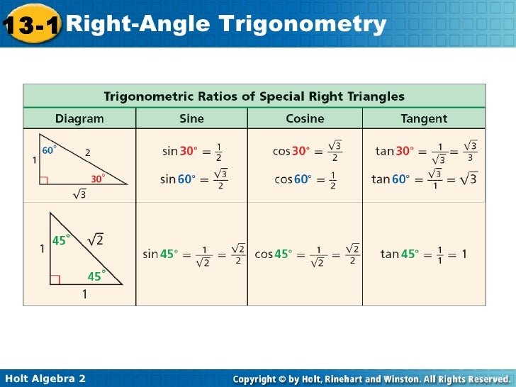 how to find hypotenuse using trig