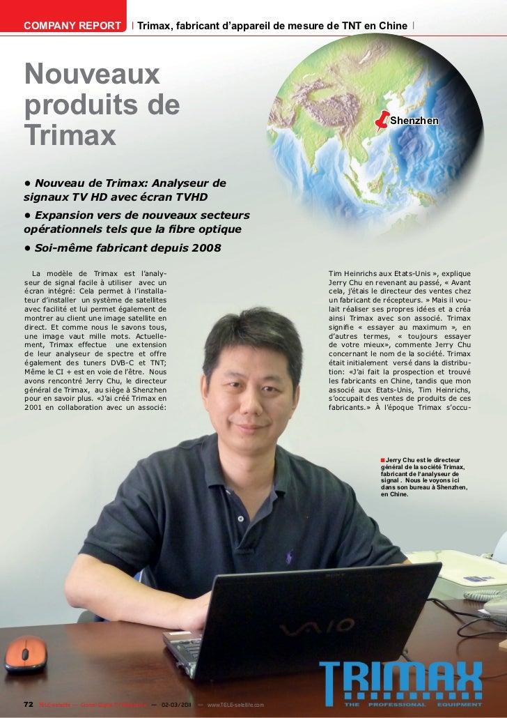 COMPANY REPORT                         Trimax, fabricant d'appareil de mesure de TNT en ChineNouveauxproduits de          ...