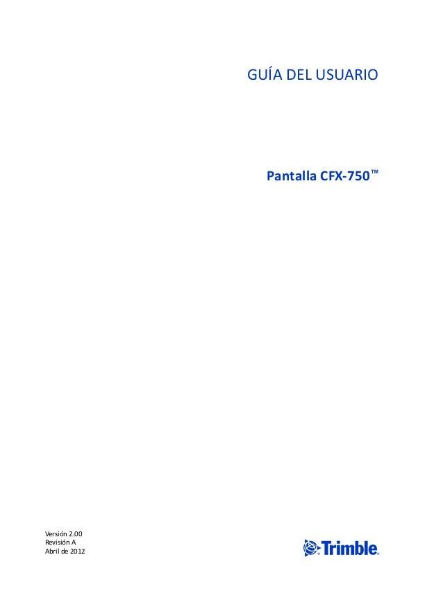 MANUAL CFX750 ESPAÑOL