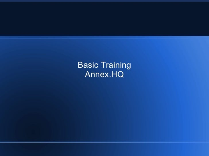 Basic Training Annex.HQ