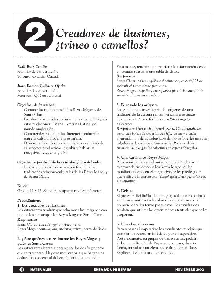 2                     Creadores de ilusiones,                         ¿trineo o camellos?Raúl Ruiz Cecilia                ...