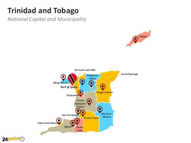 Vector maps of trinidad and tobago fully editable in powerpoint