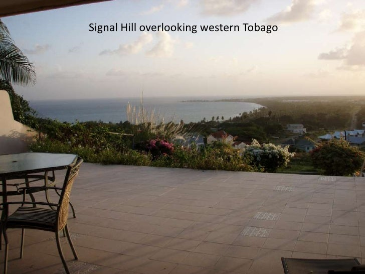 Signal Hill overlooking western Tobago<br />