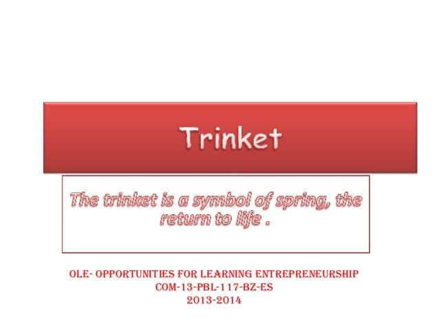 OLE- OppOrtunitiEs fOr LEarning EntrEprEnEurship COM-13-pBL-117-BZ-Es 2013-2014
