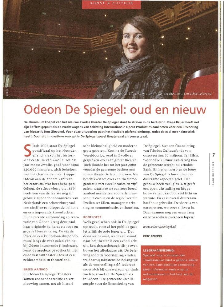 Triodos Nieuws Nov 2009