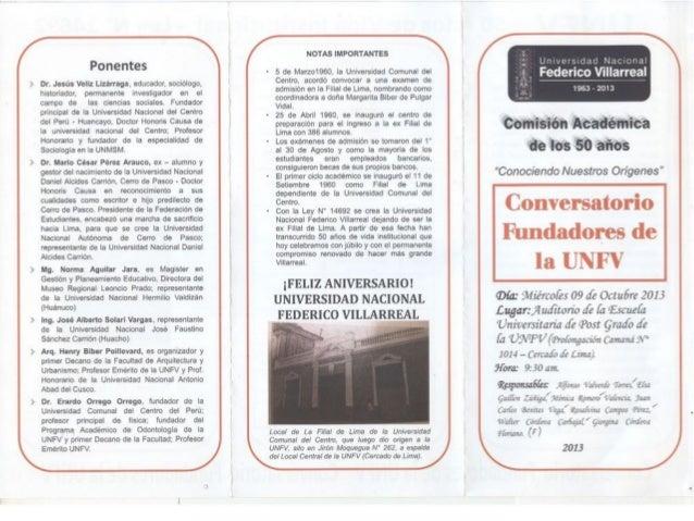 Conversatorio Fundadores de la UNFV
