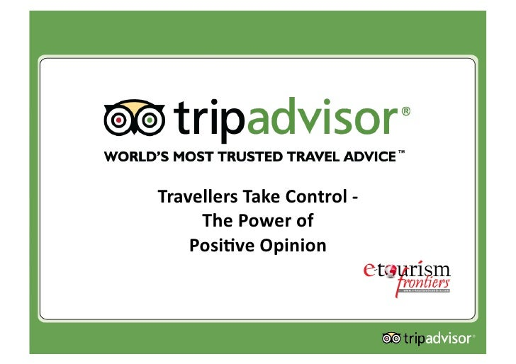 TravellersTakeControl‐      ThePowerof     Posi4veOpinion
