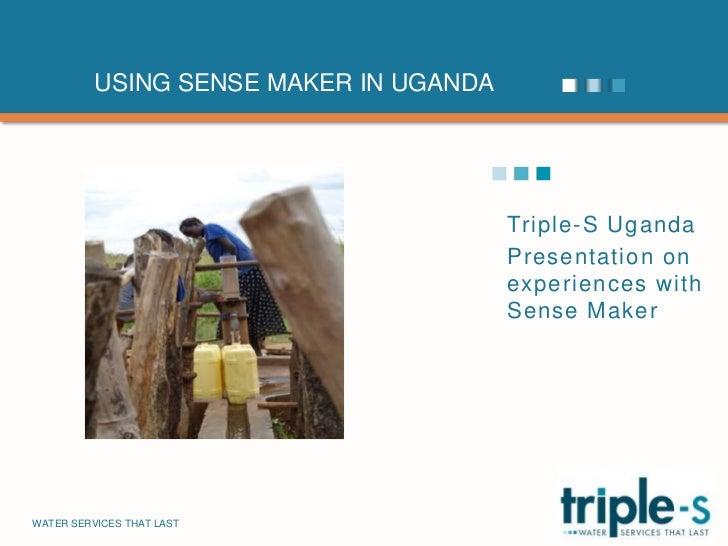 Triple-S Uganda SenseMaker experience