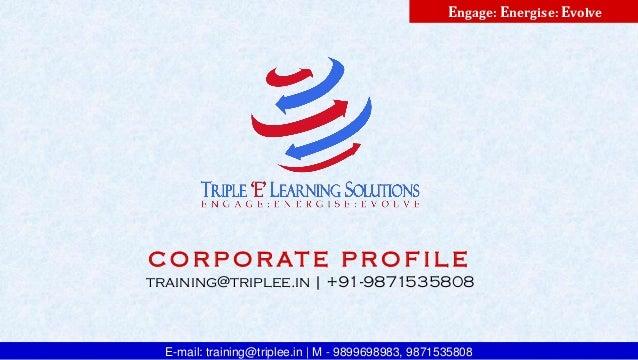 Triple E Learning Solutions - Corporate Profile
