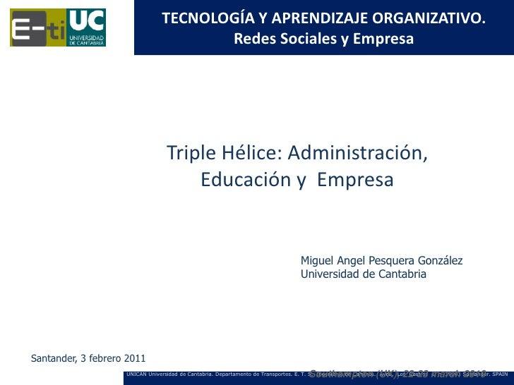 TECNOLOGÍA Y APRENDIZAJE ORGANIZATIVO.                                       Redes Sociales y Empresa                     ...
