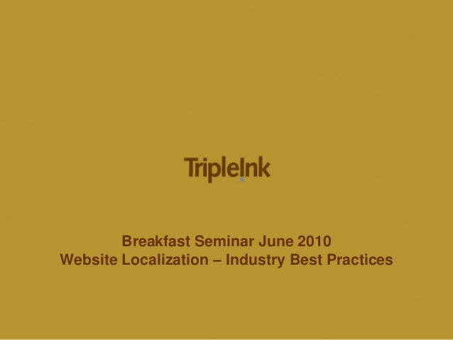 Website Localization – Industry Best Practices by TripleInk