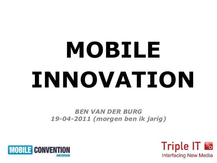 Mobile Convention Amsterdam - Triple IT - Ben van den Burg