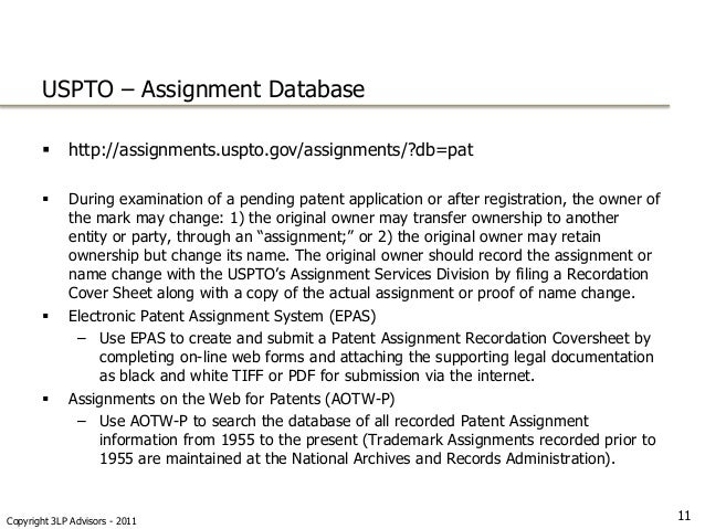 Patent assignment