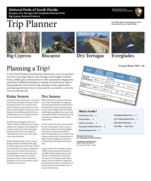 What's Inside? Planning Your Trip . . . 2 Park Activities . . . 2 Safety in the Parks . . . 3 Big Cypress National Preserv...