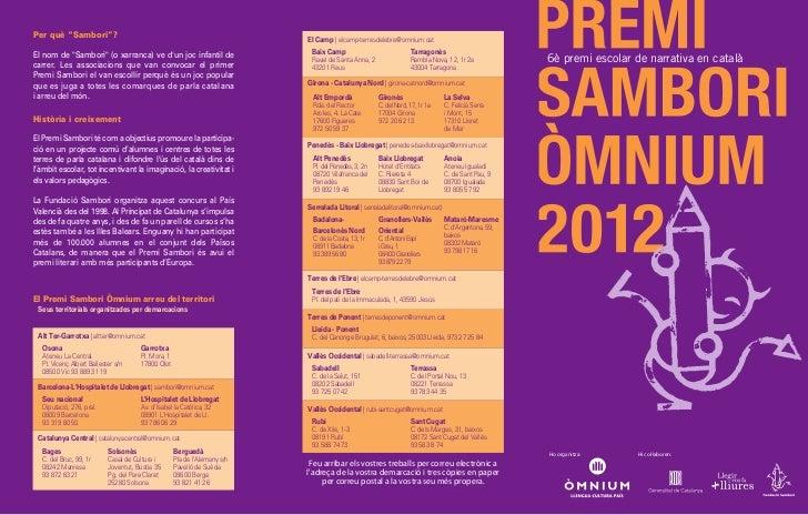 """Per què """"Sambori""""?                                                          El Camp   elcamp-terresdelebre@omnium.catEl no..."""