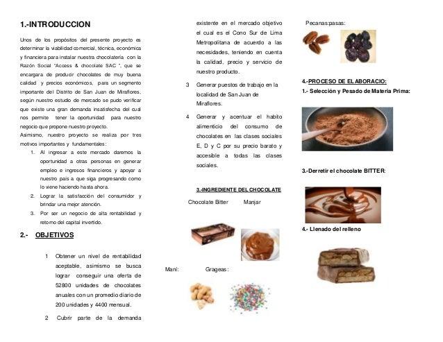 1.-INTRODUCCION                                                          existente en el mercado objetivo           Pecana...