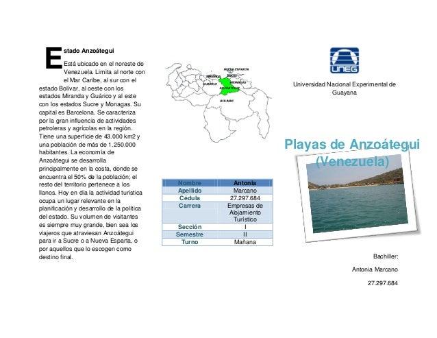 Triptico Playas de Anzoategui