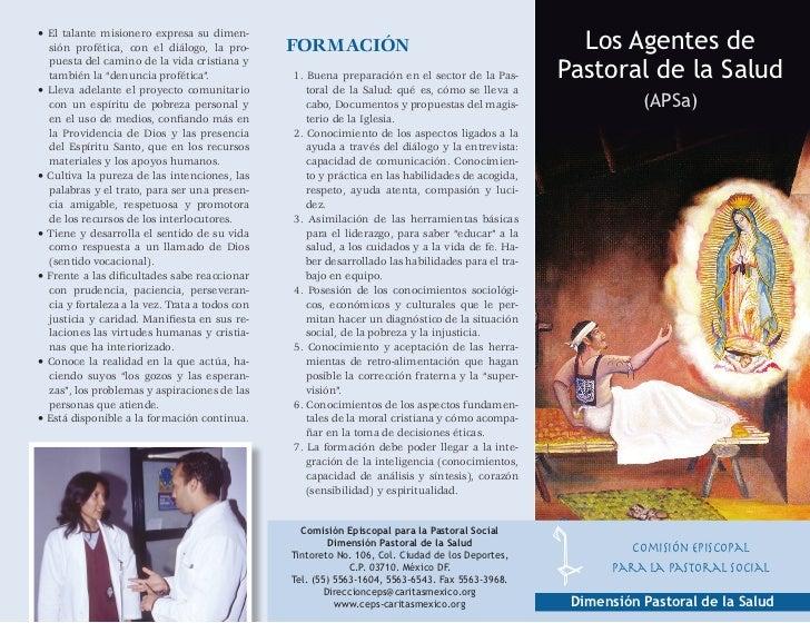 Triptico  Los Agentes de Pastoral de la Salud