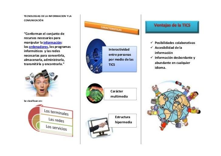 """TECNOLOGIAS DE LA INFORMACION Y LACOMUNICACIÓN""""Conforman el conjunto derecursos necesarios paramanipular la información:  ..."""
