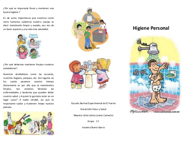 Higiene personal en niños triptico - Imagui