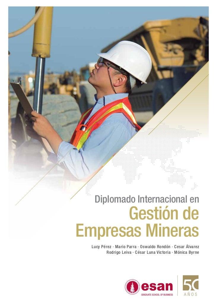 Tríptico Diplomado Internacional Gestión de Empresas Mineras