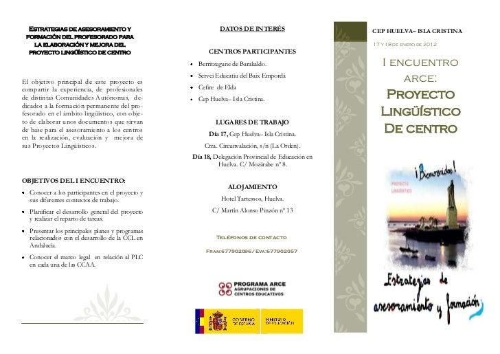 Estrategias de asesoramiento y                            DATOS DE INTERÉS                      CEP HUELVA– ISLA CRISTINA ...