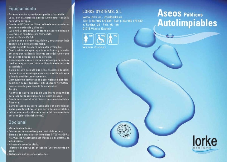 aseos publicos autolimpiables, aseos autolimpiables, automatic public toilets Triptico lorke castellano baja