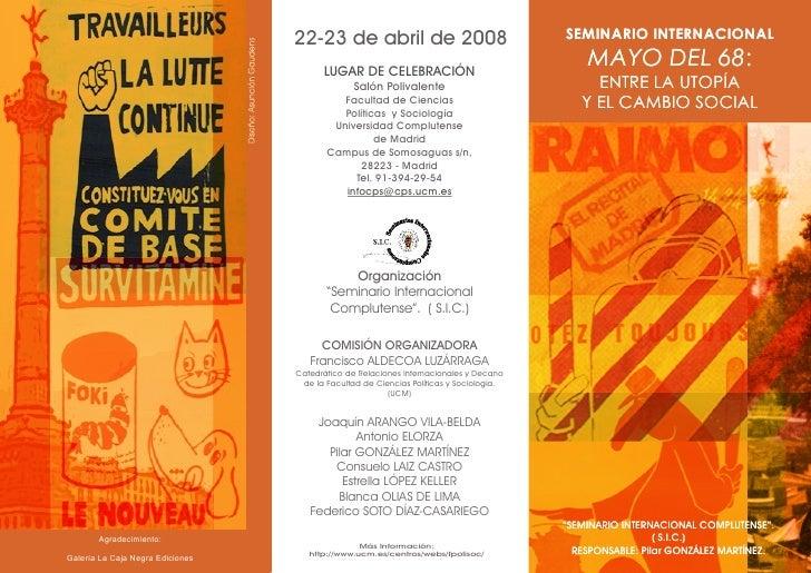 22-23 de abril de 2008                                SEMINARIO INTERNACIONAL                                          LUG...
