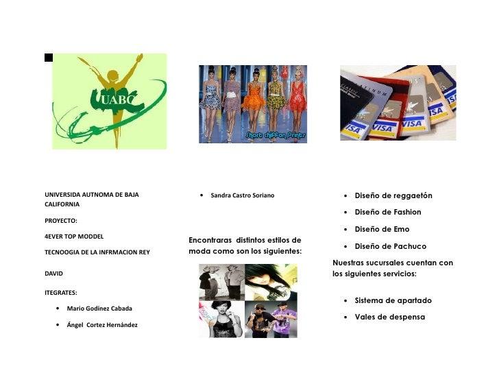UNIVERSIDA AUTNOMA DE BAJA          •   Sandra Castro Soriano         •   Diseño de reggaetónCALIFORNIA                   ...