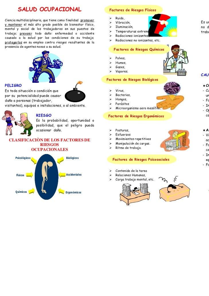 SALUD OCUPACIONAL                                        Factores de Riesgos Físicos                                      ...
