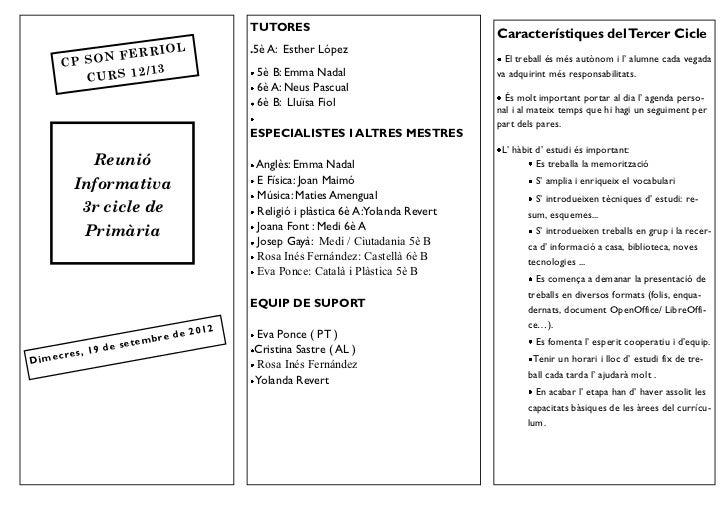 REUNIÓ GENERAL 3r CICLE 2012/13