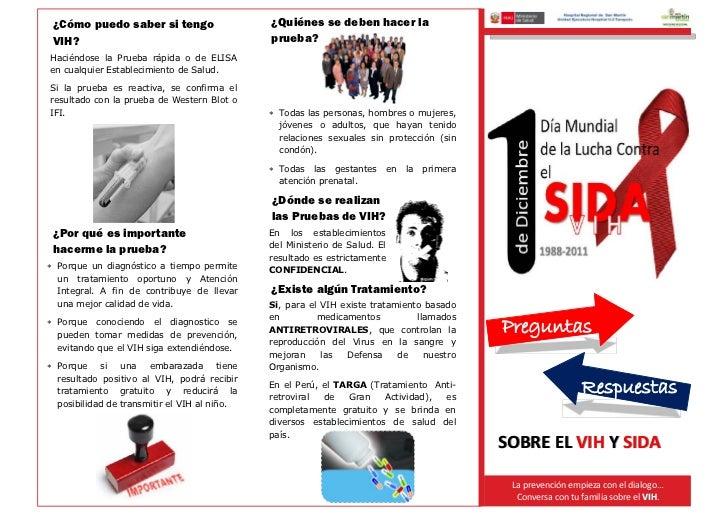 Triptico VIH/SIDA