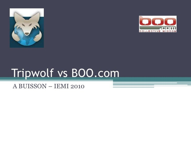Tripwolf vs BOO.com<br />A BUISSON – IEMI 2010<br />