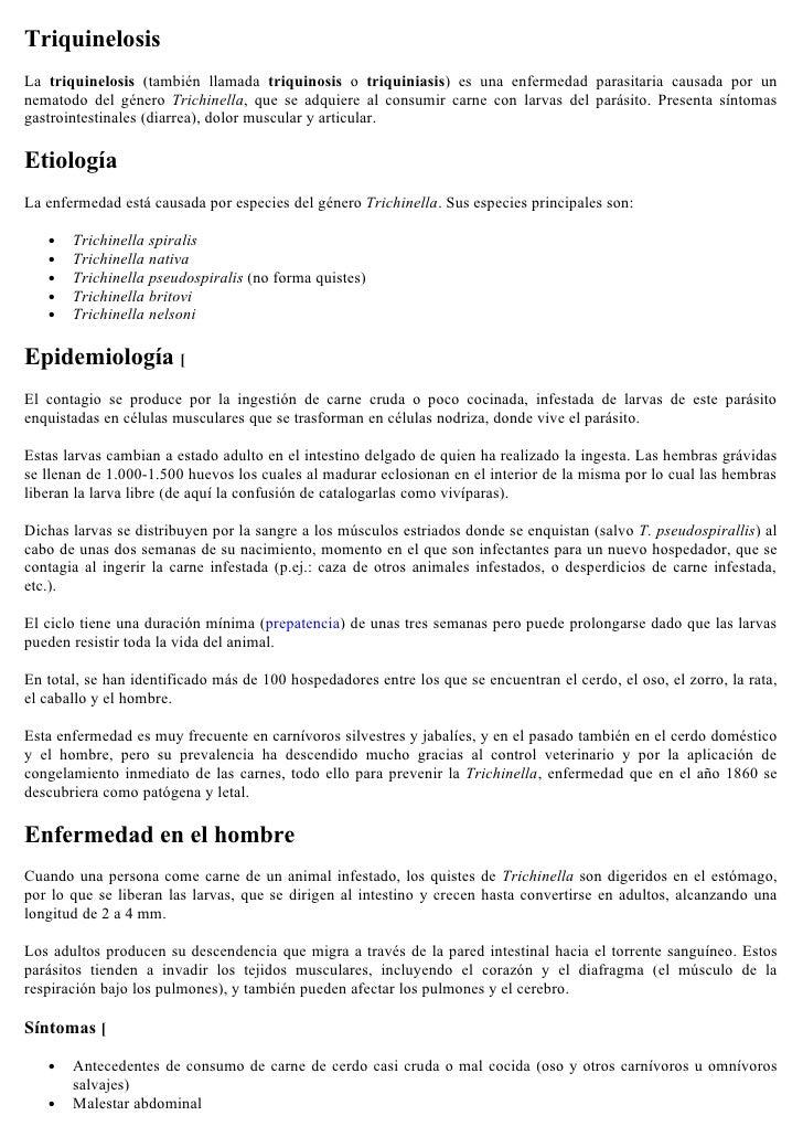Triquinosis