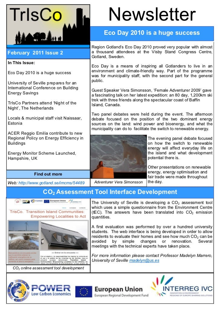 TrIsCo Newsletter #2: February 2011