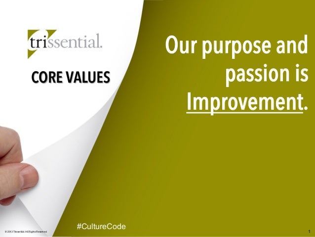 Trissential Core Values