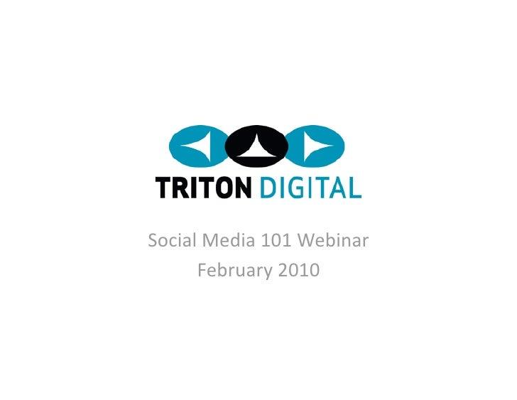 Triton Digital Social Media101 Webinar