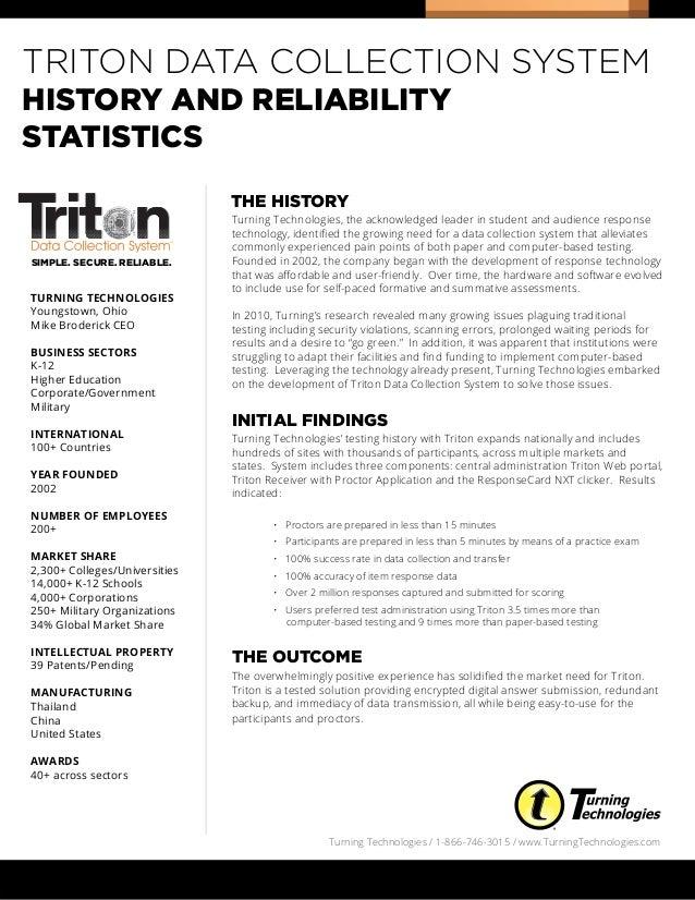 Triton history & reliability