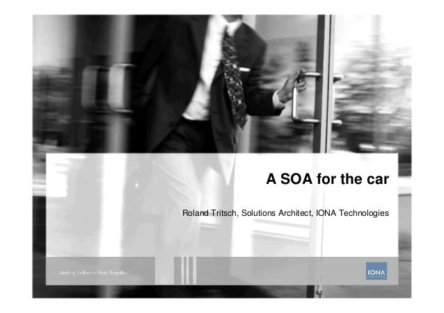 A SOA for the car - 01/2009