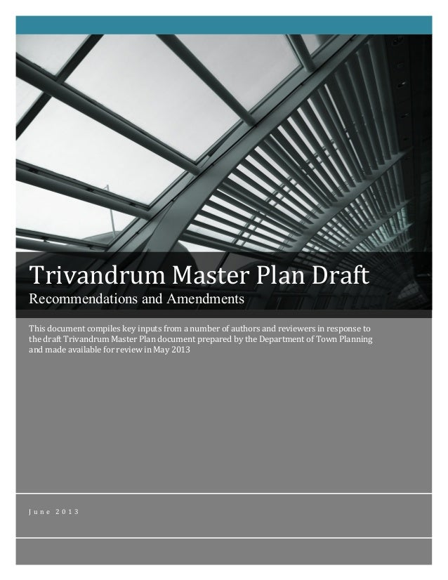 Trivandrum Master Plan Inputs - Final