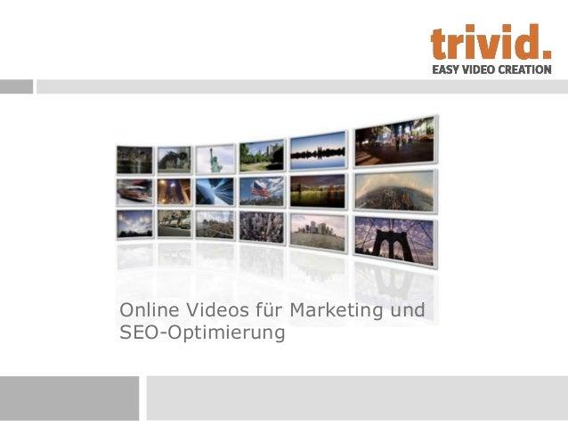 Online Videos für Marketing undSEO-Optimierung