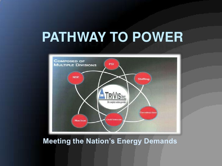 PATHWAY TO POWER     Meeting the Nation's Energy Demands