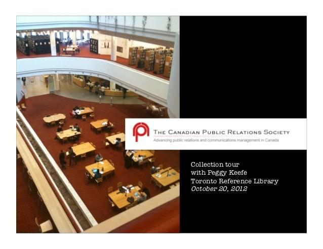 CPRS Toronto collection mini virtual tour
