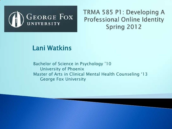 """Lani WatkinsBachelor of Science in Psychology """"10   University of PhoenixMaster of Arts in Clinical Mental Health Counseli..."""