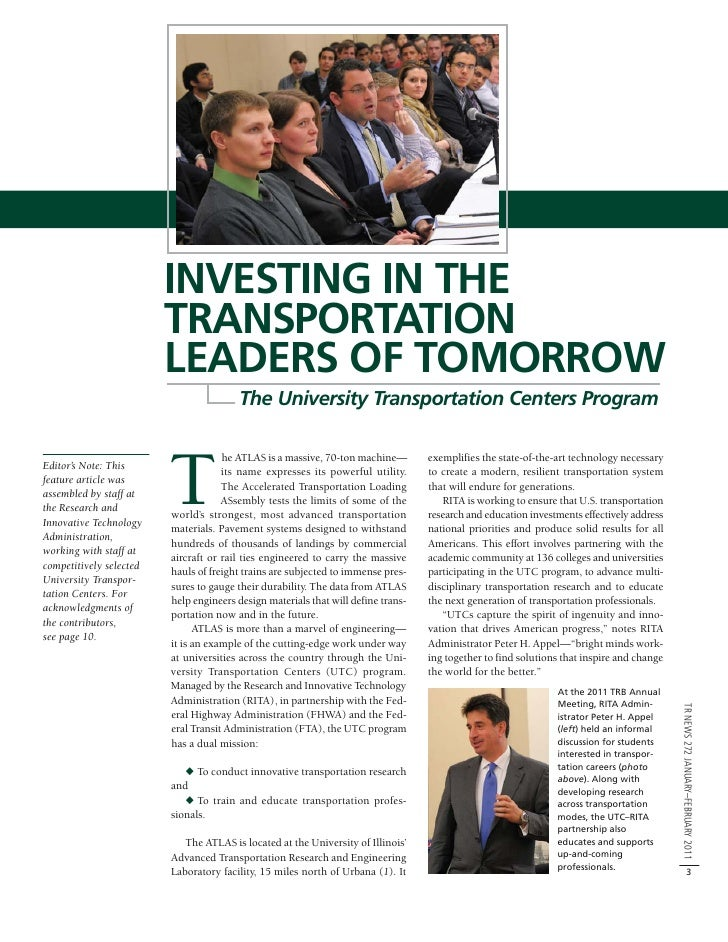INVESTING IN THE                         TRANSPORTATION                         LEADERS OF TOMORROW                       ...